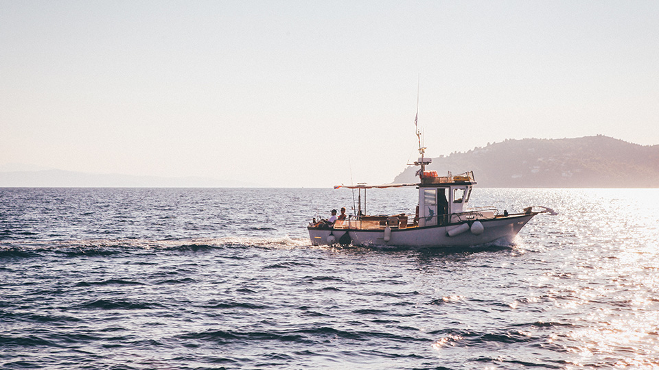 fishing boat on water